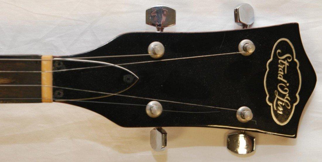 355: 1950's CHERRY FINISH STRAD-O-LIN 5 STRING BANJO - 5