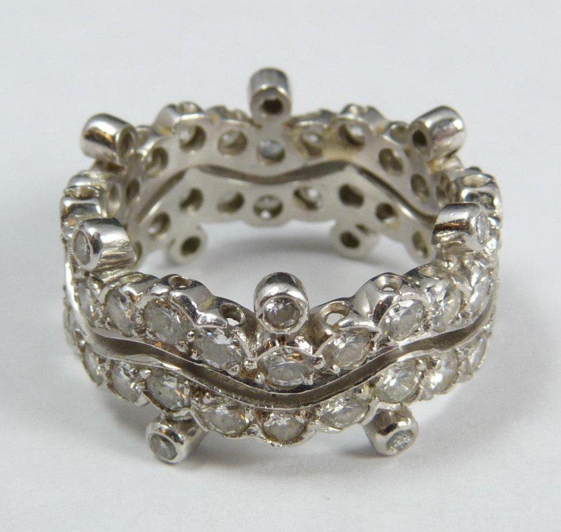 7: LADIES PLATINUM AND 2.24CTW DIAMOND RING