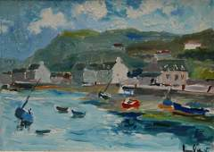 170: FERNAND HERBO OIL PAINTING OF FRENCH COAST
