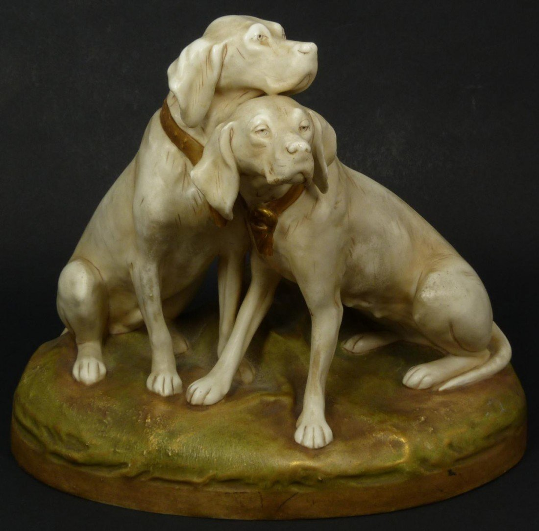 4: ROYAL DUX BOHEMIAN PORCELAIN DOGS GROUP FIGURE