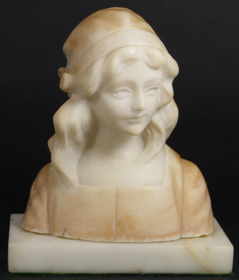 5: ANTIQUE ITALIAN MARBLE BUST OF YOUNG GIRL