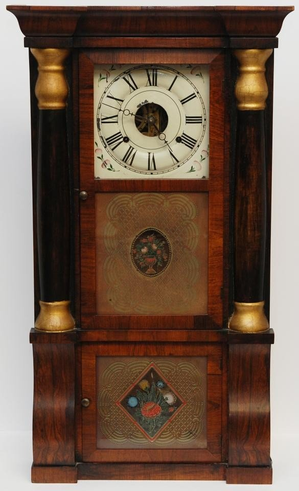 6: SETH THOMAS PLYMOUTH 8 DAY HOLLOW COLUMN CLOCK