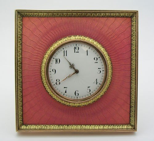 Faberge russian gold silver enameled desk clock 101 faberge russian gold silver enameled desk clock amipublicfo Images