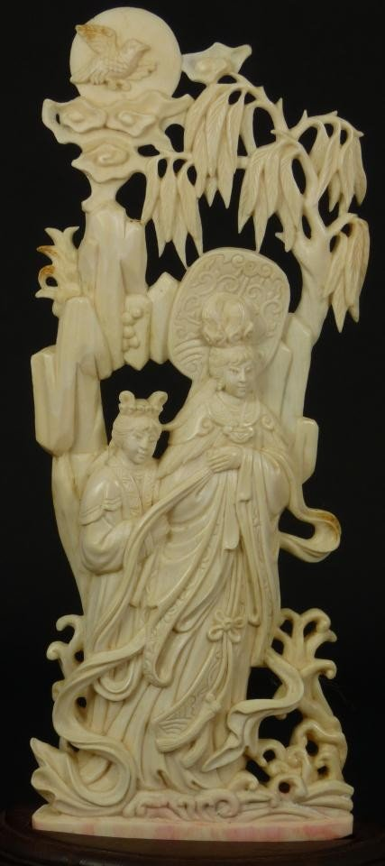 6 Antique Chinese Hand Carved Ivory Guan Yin Figure Nov 19 2011