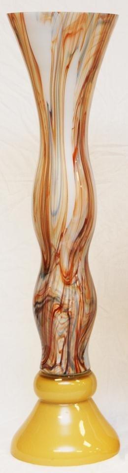9: LARGE MURANO ART GLASS TRUMPET VASE