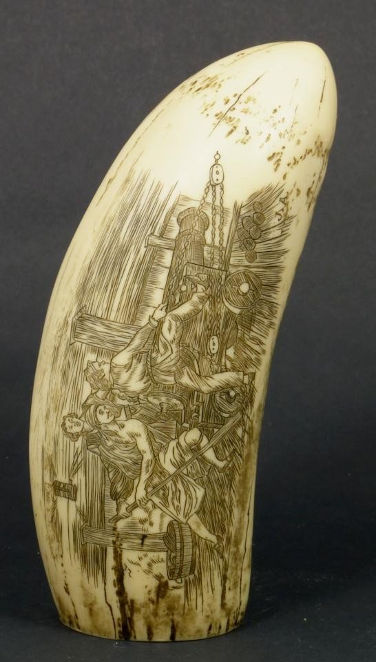 18: NAPOLEON SCRIMSHAW DATED 1815 DOUBLE CARVING - 2