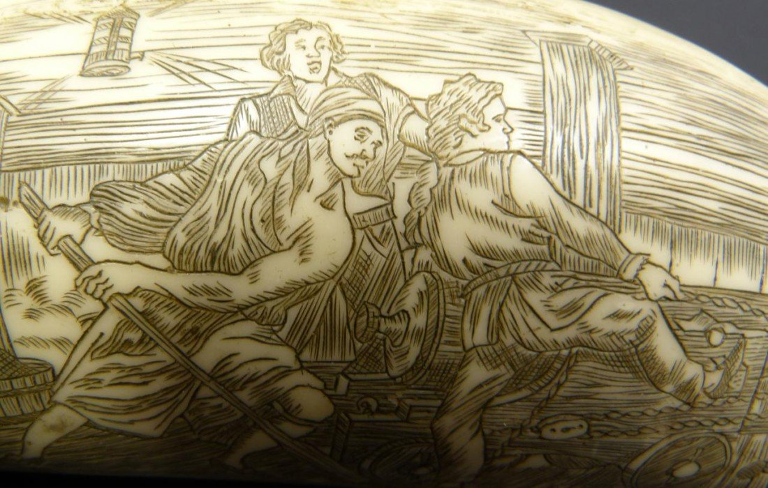 18: NAPOLEON SCRIMSHAW DATED 1815 DOUBLE CARVING - 5