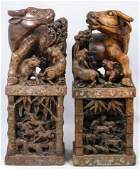 402 Pr CHINESE FINE HARDSTONE OX GROUP FIGURES