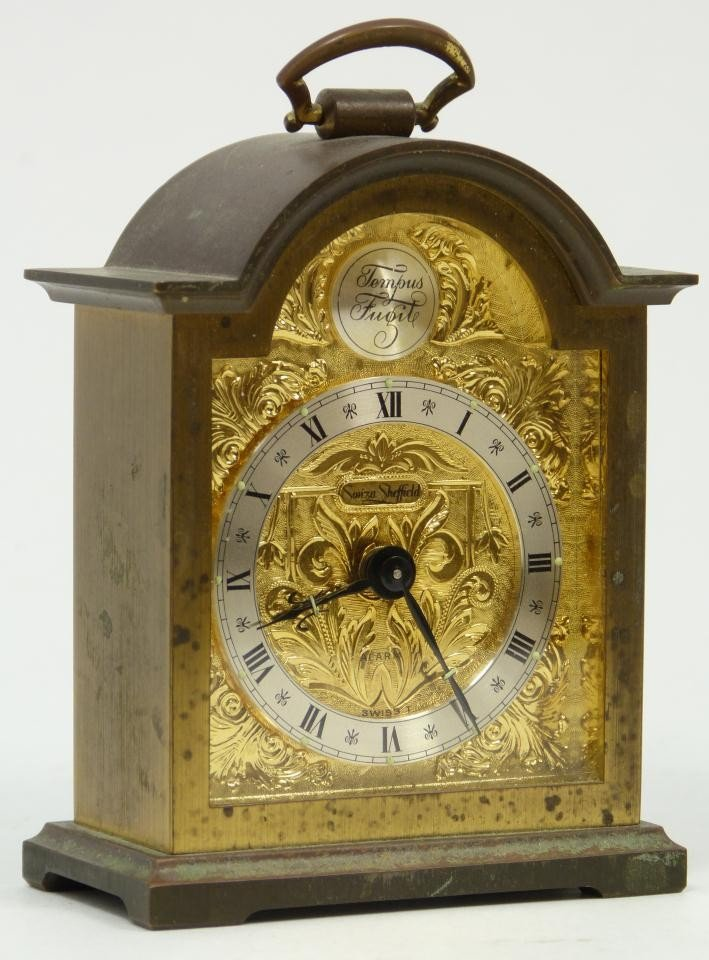 6: OLD SWIZA SHEFFIELD CARRIAGE CLOCK