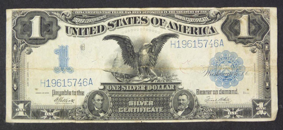 16: 1899 A $1 ONE DOLLAR SILVER CERTIFICATE BILL U.S.