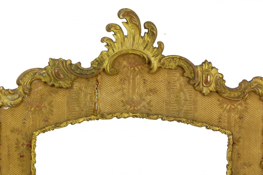 181: 19th C FRENCH BRONZE TRIFOLD PICTURE FRAME - 2