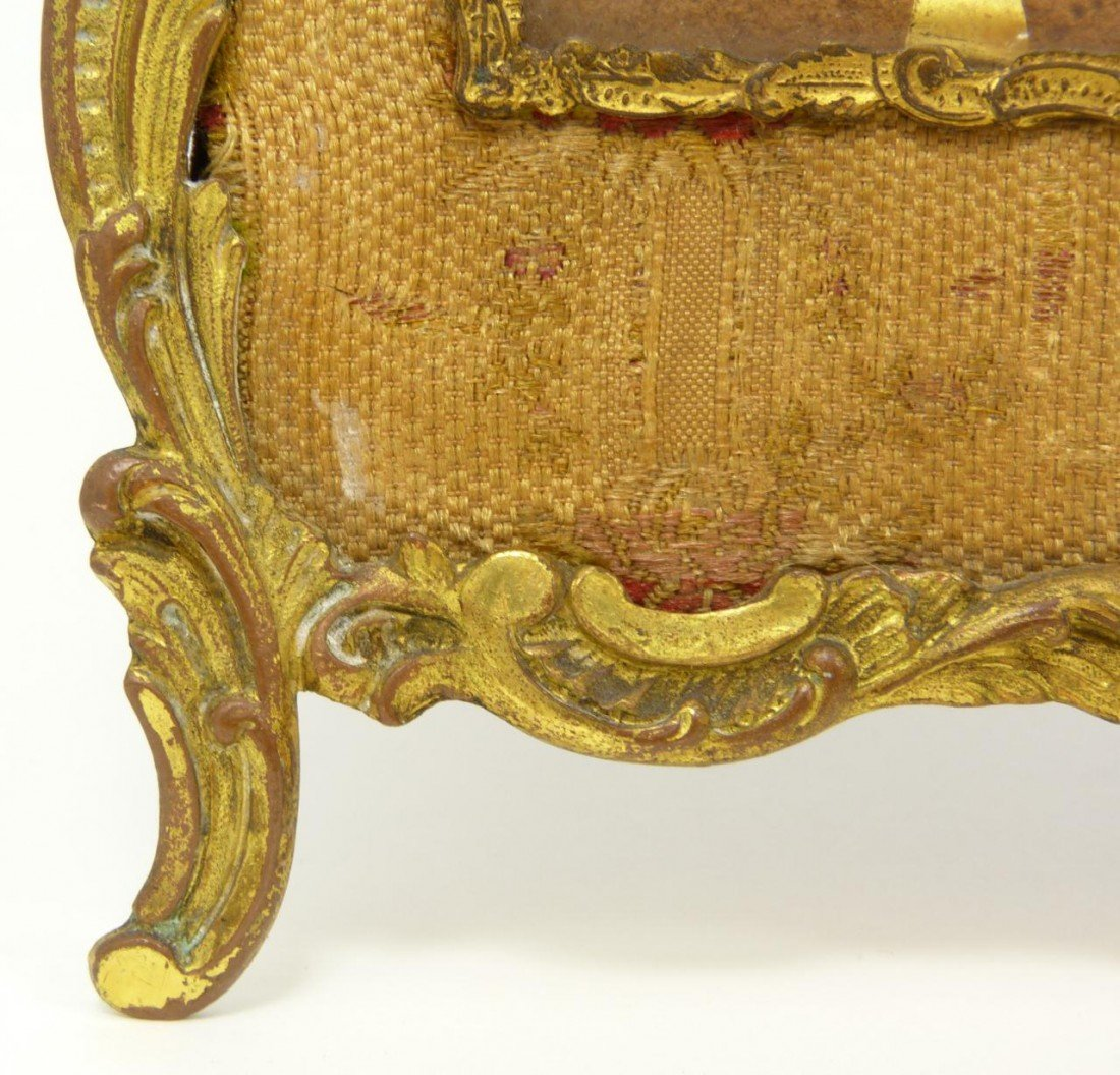 181: 19th C FRENCH BRONZE TRIFOLD PICTURE FRAME - 7