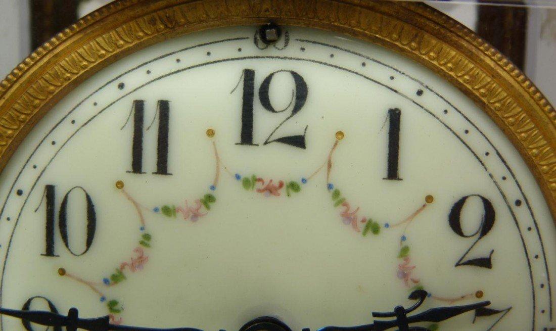 189: 19th CENTURY SAMUEL MARTI MARBLE REGULATOR CLOCK - 3