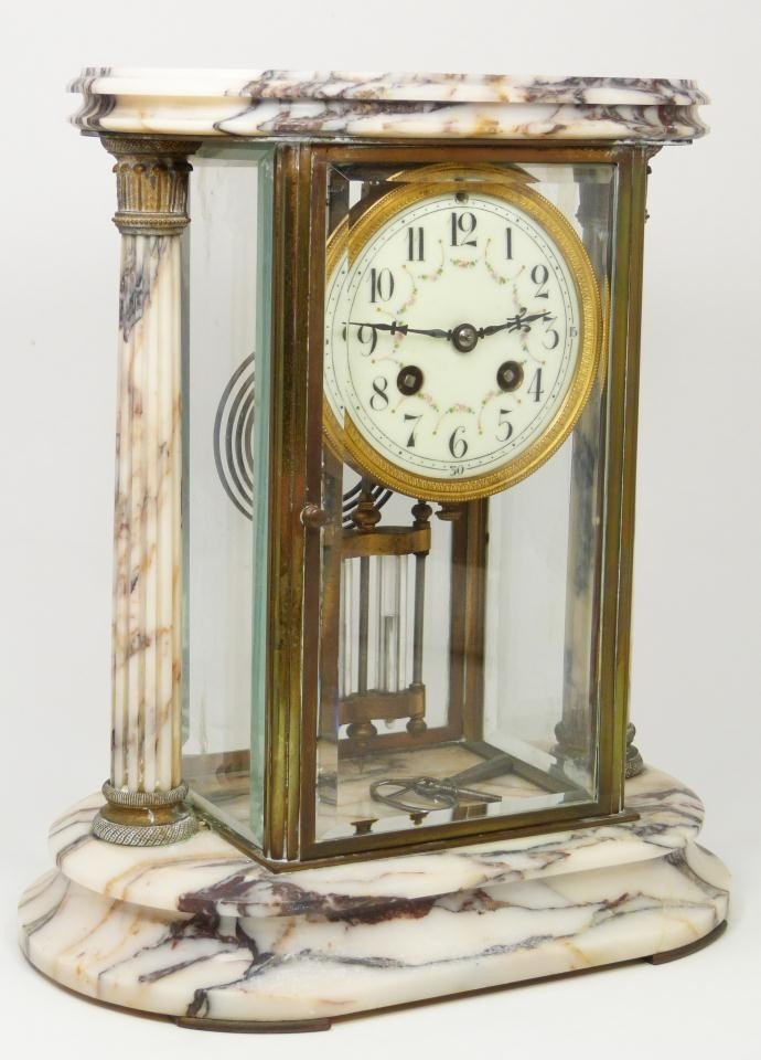 189: 19th CENTURY SAMUEL MARTI MARBLE REGULATOR CLOCK - 4