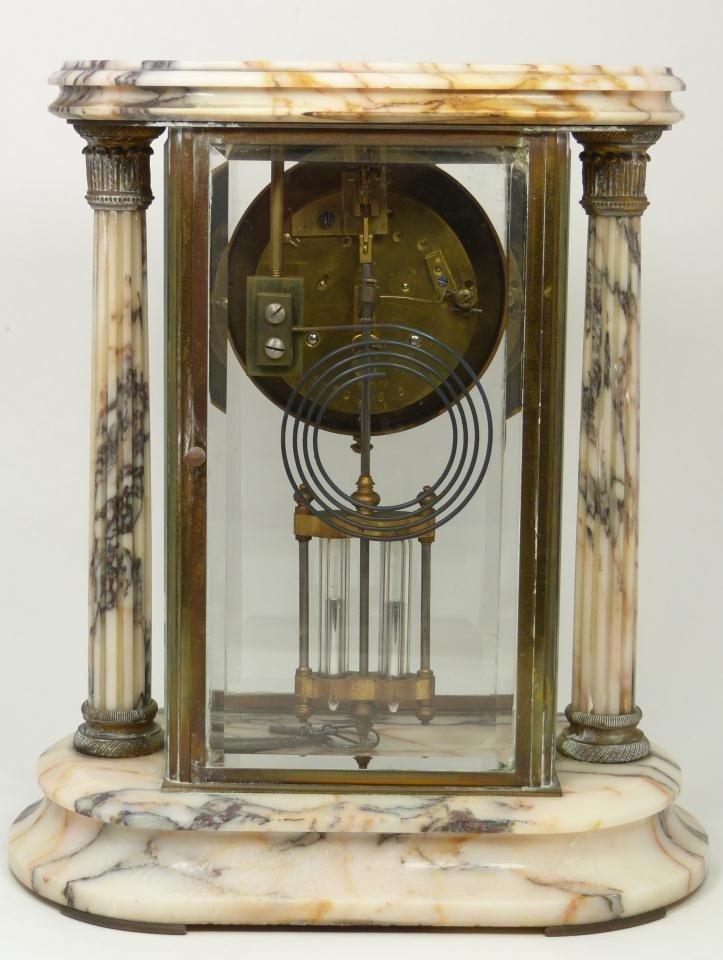 189: 19th CENTURY SAMUEL MARTI MARBLE REGULATOR CLOCK - 6