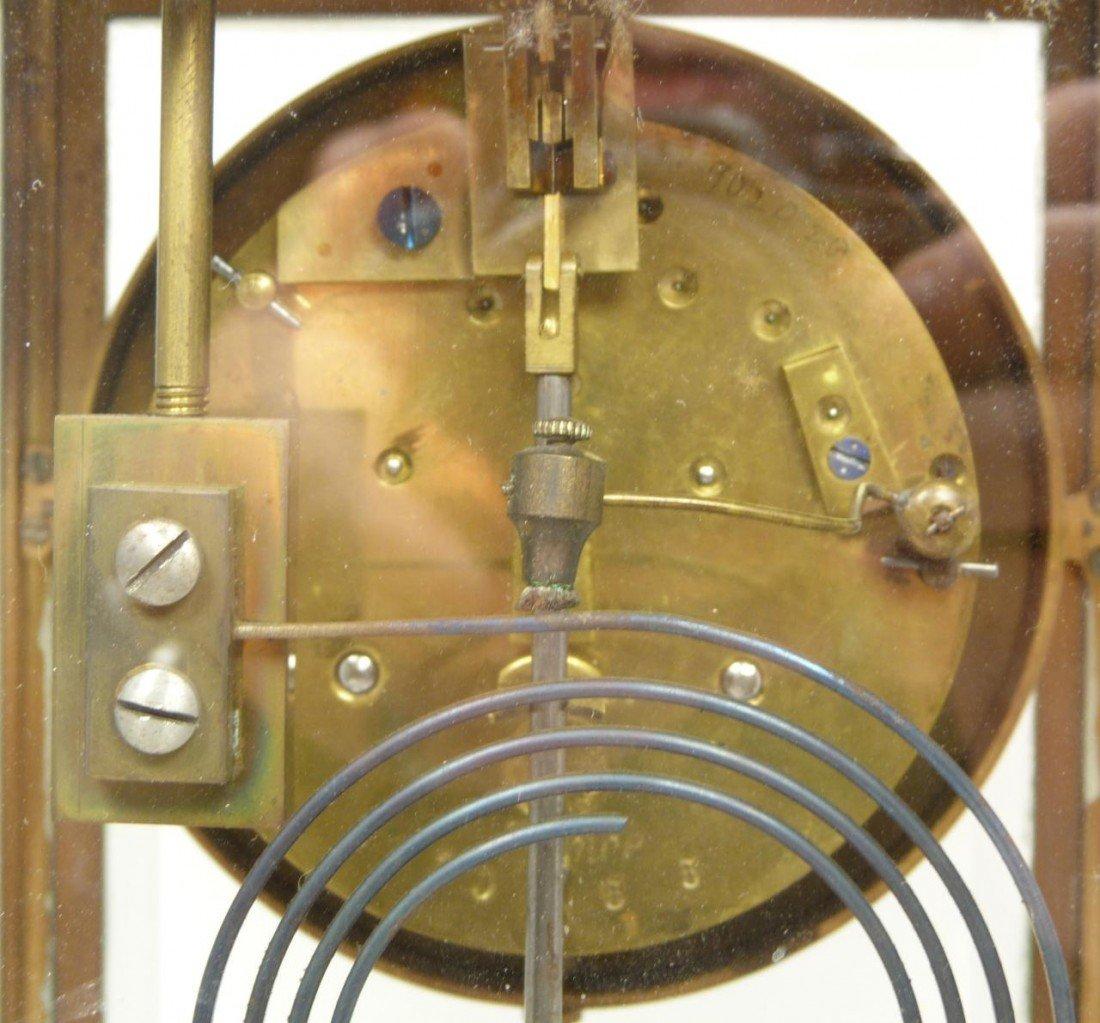 189: 19th CENTURY SAMUEL MARTI MARBLE REGULATOR CLOCK - 7