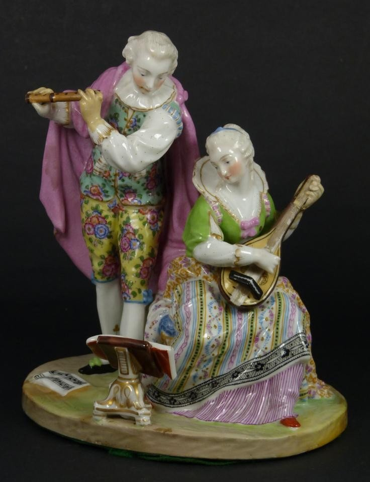 48: ANTIQUE MEISSEN GERMAN PORCELAIN MUSICAL GROUP