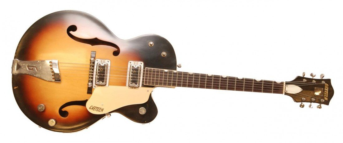 14: 1958 GRETSCH DOUBLE ANNIVERSARY SUNBURST GUITAR