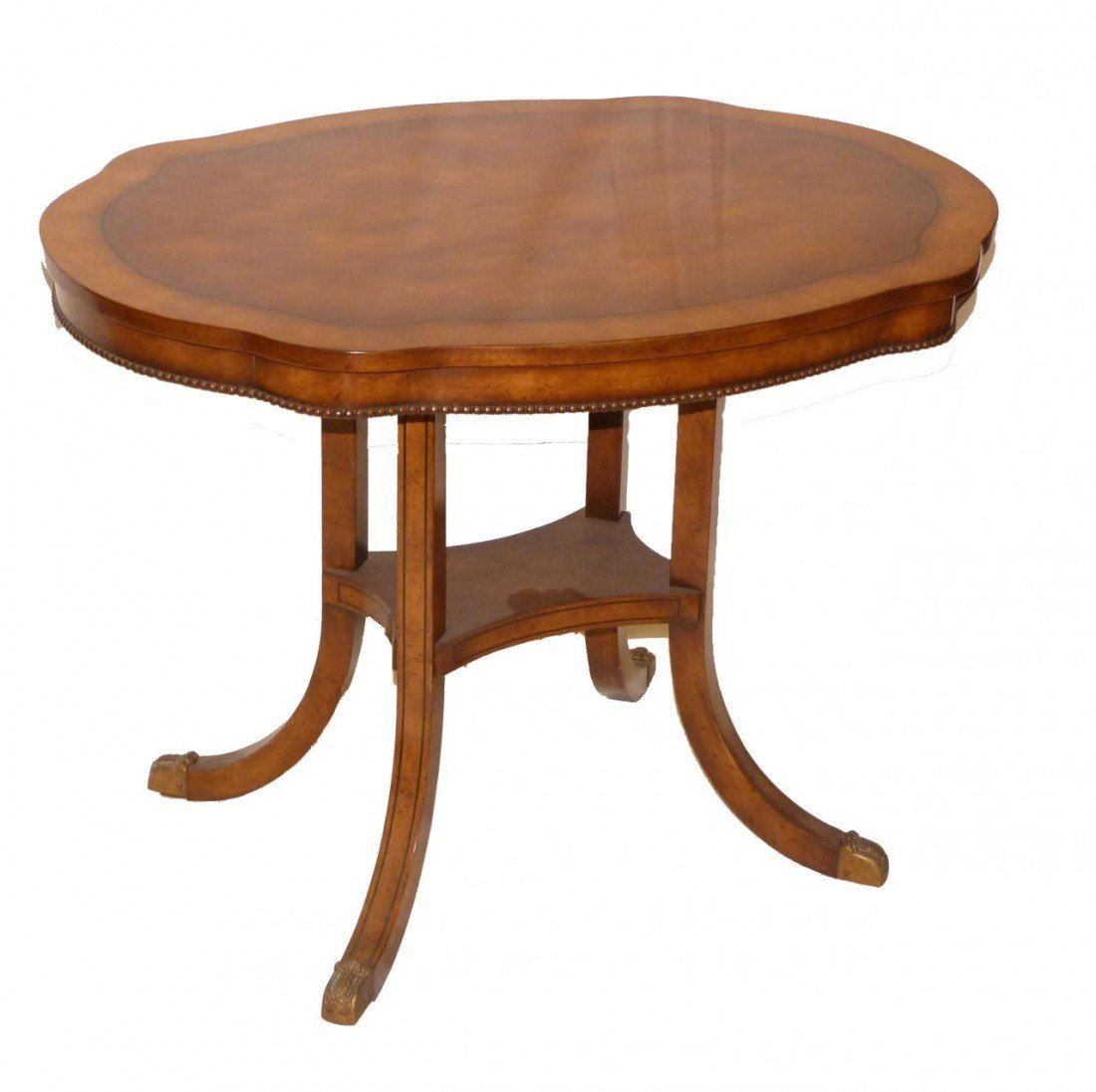 3: ANTIQUE AMERICAN OVAL INLAY END TABLE