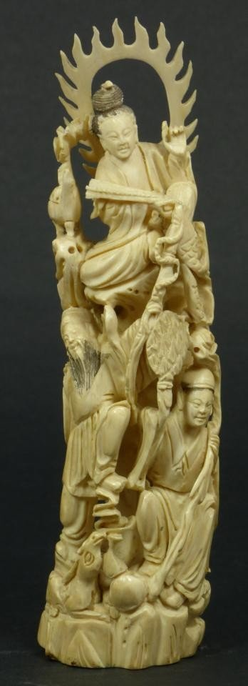 10: CHINESE CARVED IVORY IMMORTAL GROUP