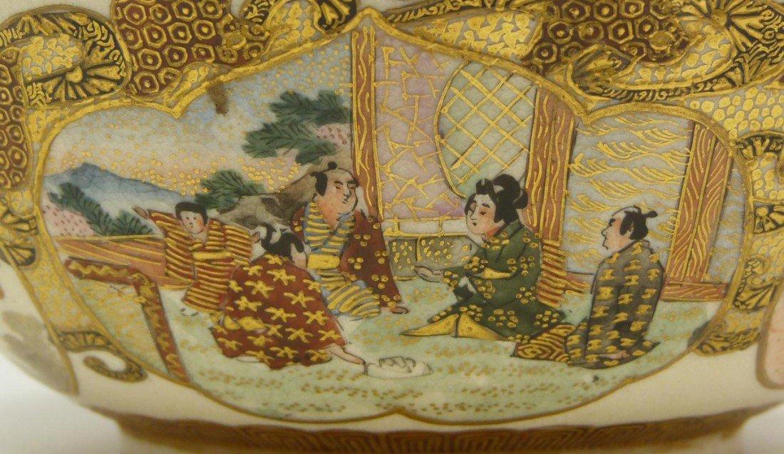 74: ANTIQUE SATSUMA JAPANESE PORCELAIN BOWL SIGNED - 4