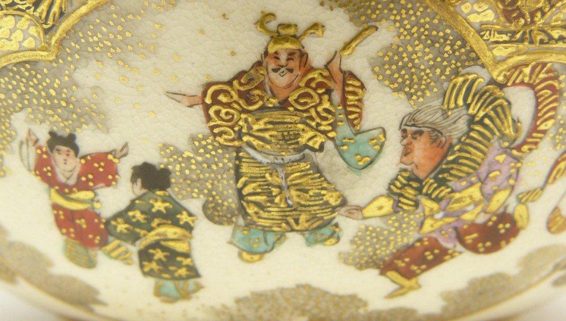 74: ANTIQUE SATSUMA JAPANESE PORCELAIN BOWL SIGNED - 5