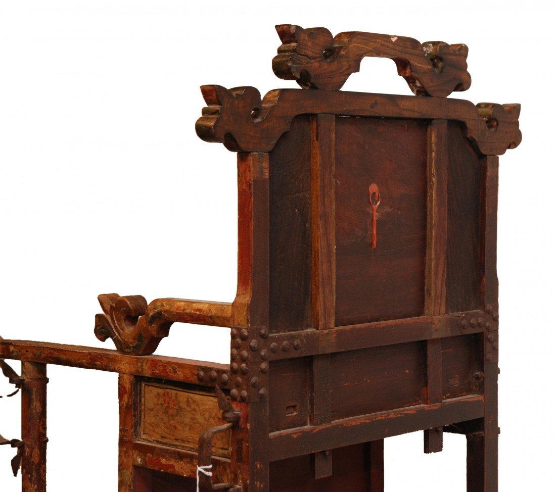 204: ANTIQUE CHINESE EMPERORS CHAIR - 10