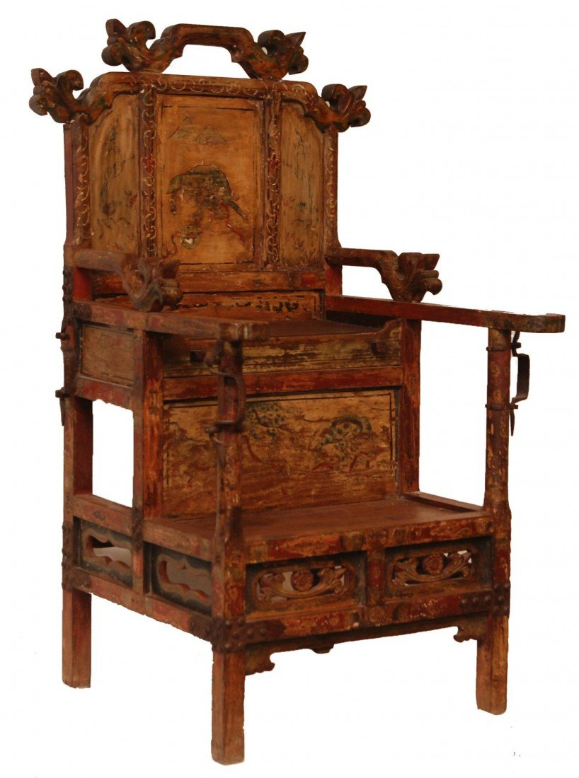 204: ANTIQUE CHINESE EMPERORS CHAIR