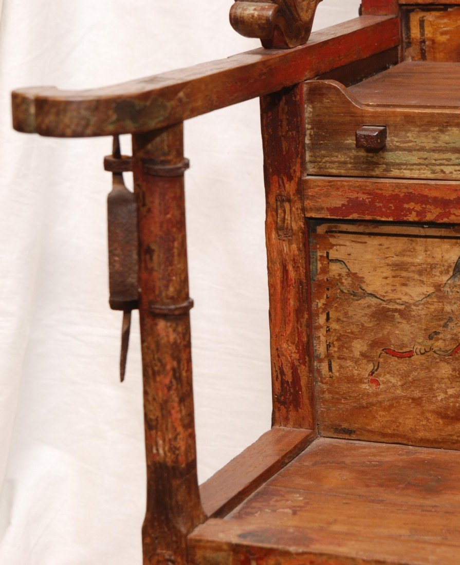204: ANTIQUE CHINESE EMPERORS CHAIR - 5