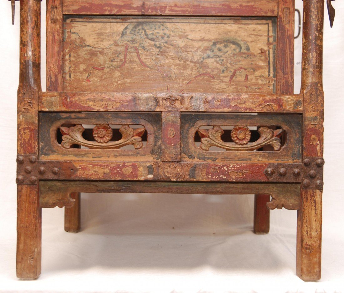 204: ANTIQUE CHINESE EMPERORS CHAIR - 7