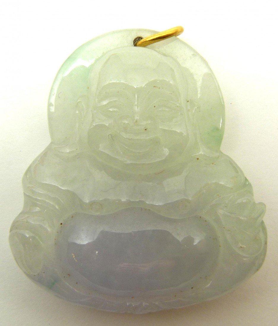 783: CHINESE CARVED JADEITE BUDDHA PENDANT