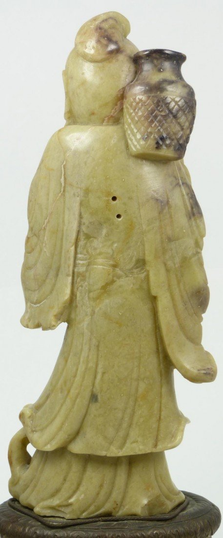 528: CHINESE HAND CARVED SOAPSTONE IMMORTAL FIGURE - 5