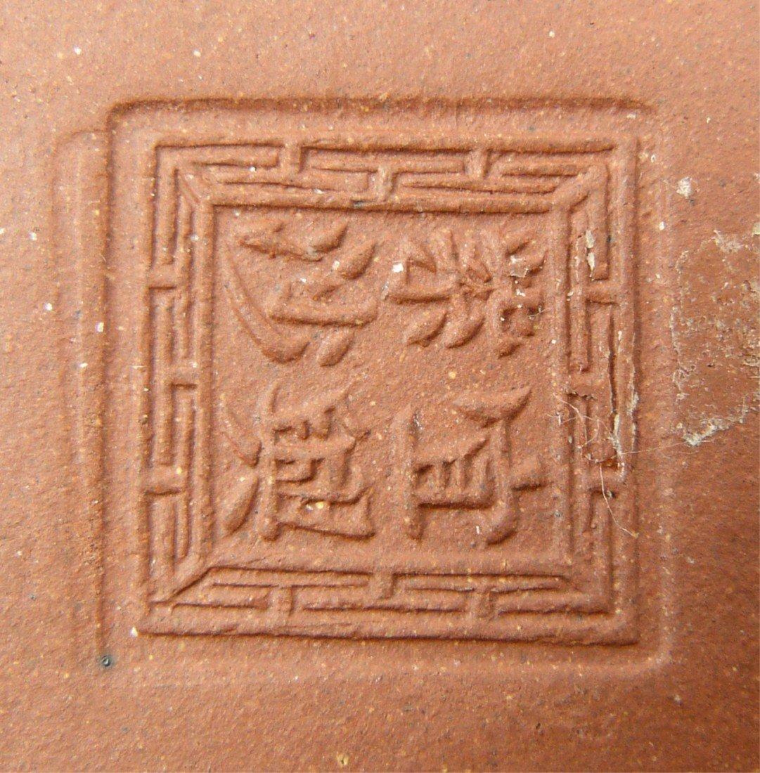 764: CHINESE YIXING ZISHA EARTHENWARE TEA POT - 8