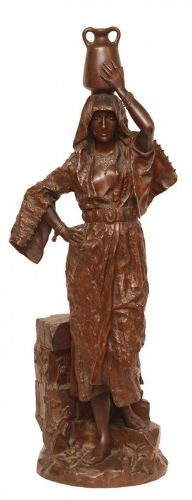 LEROUX FRENCH BRONZE REBECCA AT THE WELL