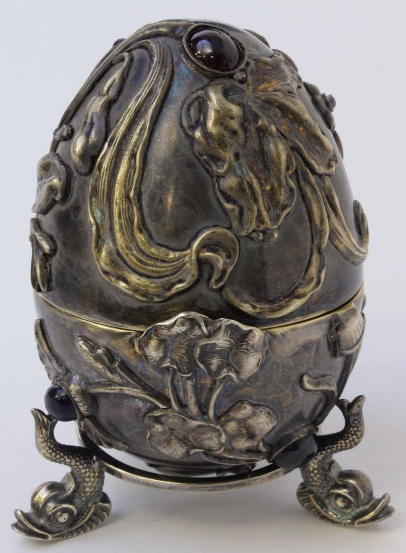 84A: RUSSIAN SILVER JEWELED INSECTS EGG KHLEBNIKOV