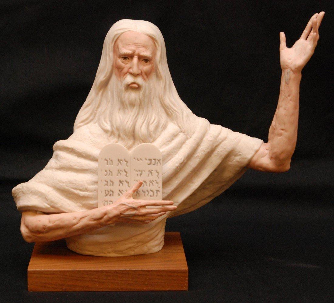 12: LASZLO ISPANKY PORCELAIN FIGURE OF MOSES