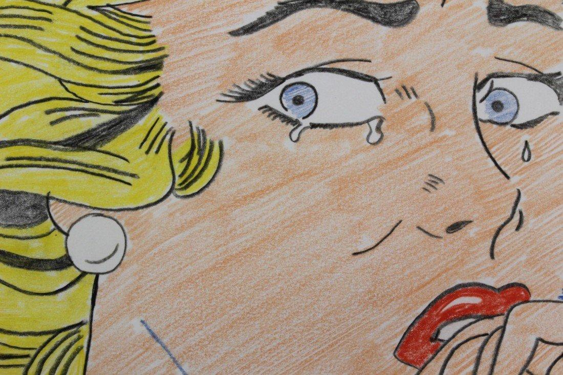 175: ROY LICHTENSTEIN PENCIL SKETCH OF CRYING GIRL - 5