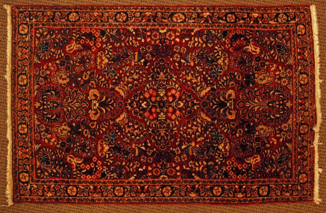 18: OLD HAND WOVEN WOOL PERSIAN RUG