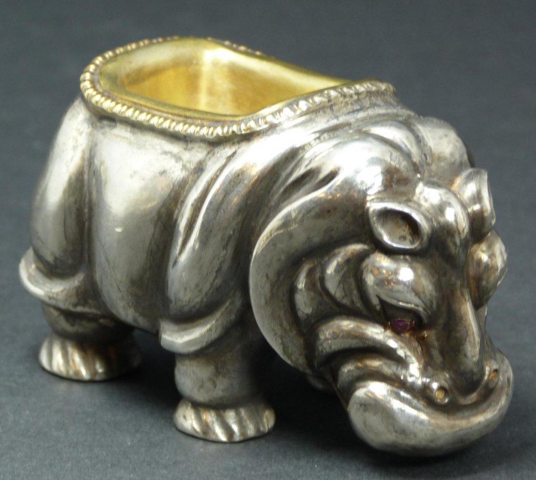 24: IMPERIAL RUSSIAN SILVER HIPPO SALT RAPPOPORT