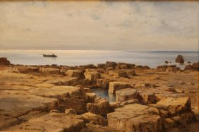 OIL PAINTING ON PANEL ATTR. TO ALEXEI BOGOLIUBOV