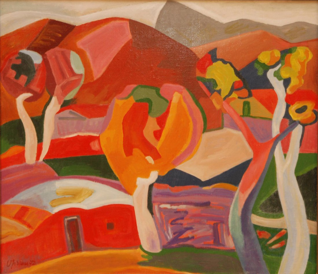 78: MINAS AVETISIAN CUBISM OIL ON CANVAS