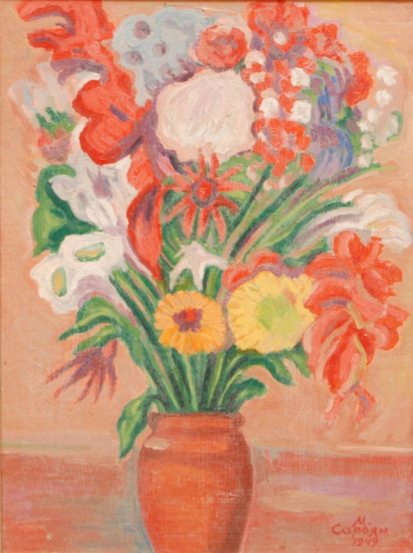 79: MARTIROS SARIAN OIL PAINTING ON BOARD