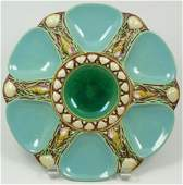319 ANTIQUE MINTON MAJOLICA OYSTER PLATE