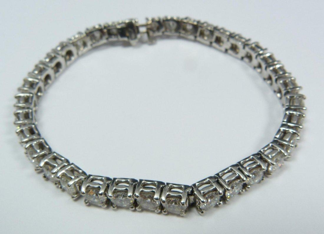 2: LADIES PLATINUM & 11.20ctw DIAMOND BRACELET