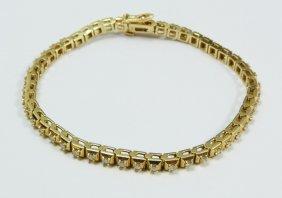 LADIES 14K YELLOW GOLD 2.00ctw DIAMOND BRACELET