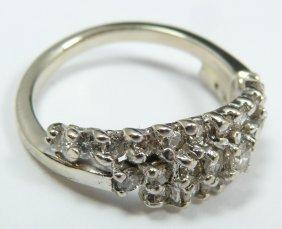 12: 10K WHITE GOLD WOMEN'S 1.00ctw DIAMOND BAND