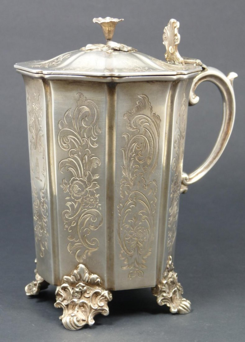 154: ANTIQUE ENGLISH STERLING SILVER LIDDED CUP