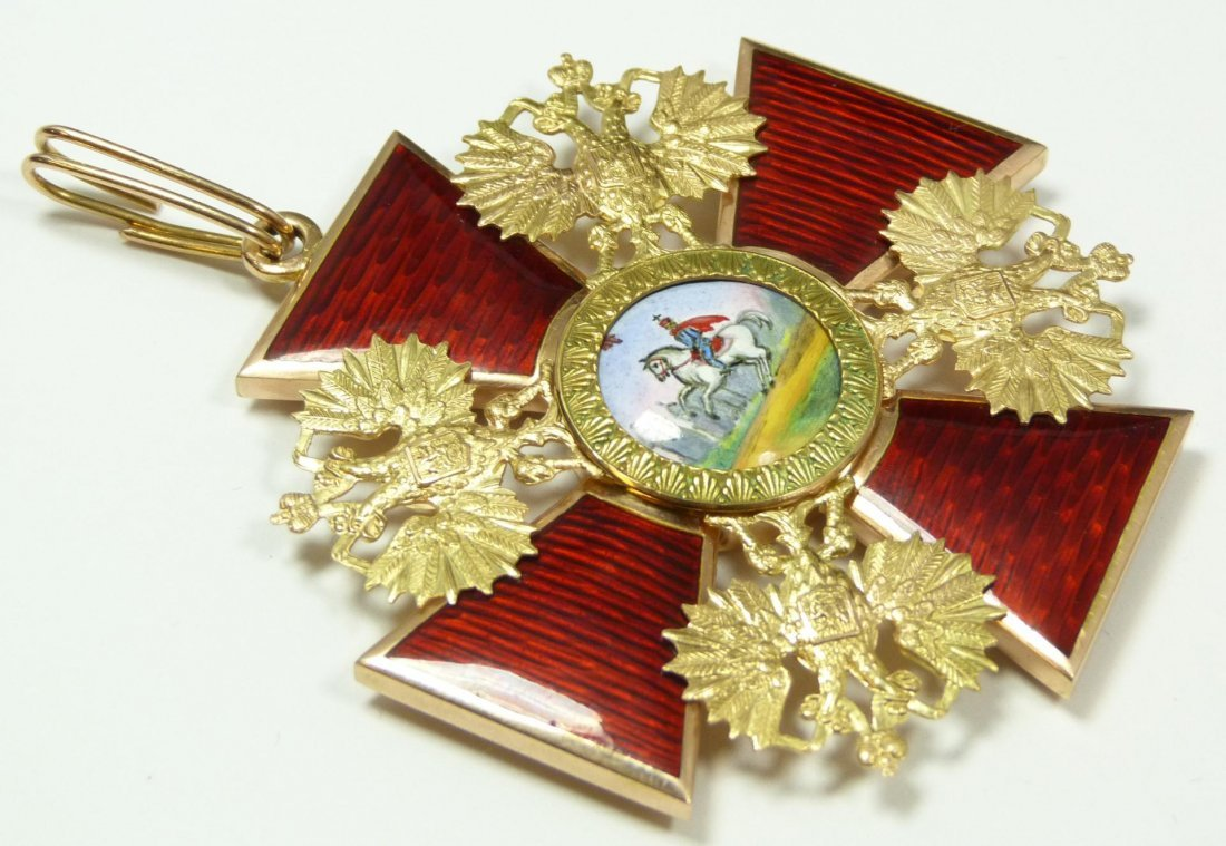 100: RUSSIAN GOLD ORDER OF ST. ALEXANDER NEVSKY MEDAL