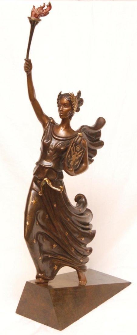 144: ERTE BRONZE LIMITED EDITION FIGURE OF LADY LIBERTY
