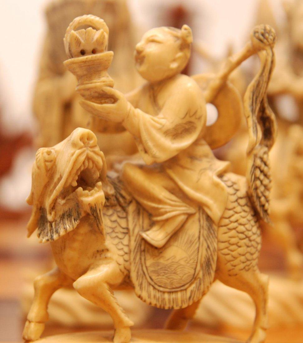 116: ANTIQUE CHINESE QIANLONG LARGE IVORY CHESS SET - 8